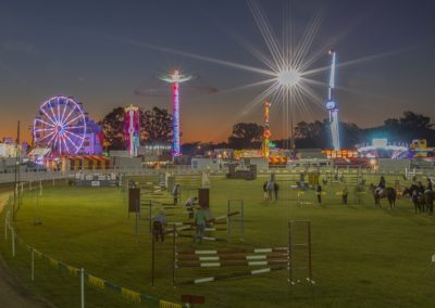Gympie Show ring at night